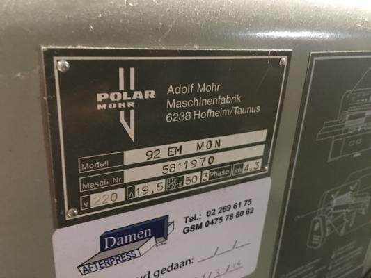 Polar 92 EM - Monitor