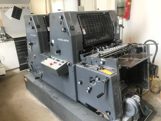 Heidelberg GTO 52 Z + 4848 Sheet Fed 2 Colour offset press 697096