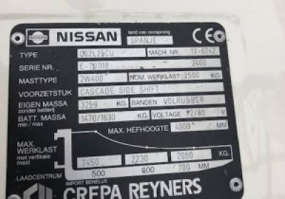 Nissan 2500 KG Electric Forklift 002L25CU