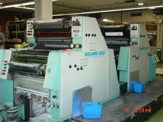 Man-Roland 204 TOB 4913  4 Colour offset press 20229B