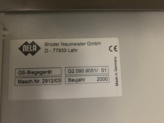 Heidelberg Plate Bender SM 52