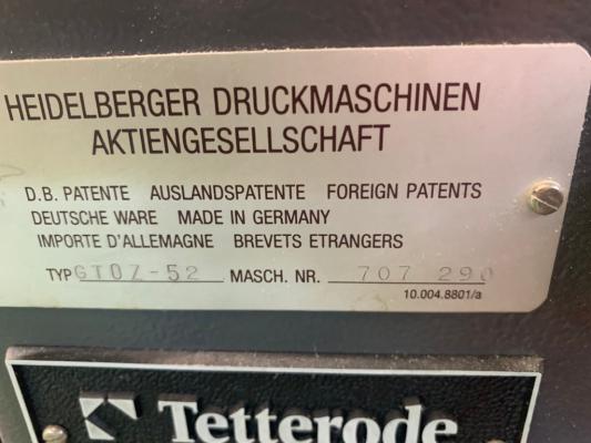 Heidelberg GTO 52 Z +