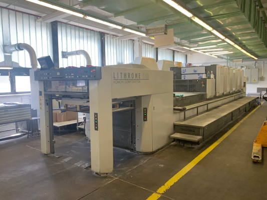 Komori LS 540 LX model H 5155 Sheet Fed 5 Colour offset press 353