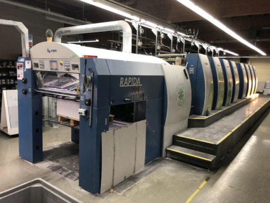 KBA Rapida 106-8 SW4 5156 Sheet Fed 8 Colour offset press 376252
