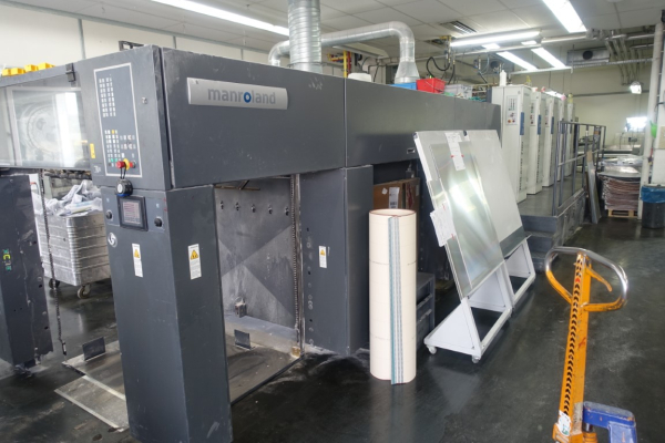 Man-Roland 704-3B+LV 5169 Sheet Fed 4 Colour offset press 33736B