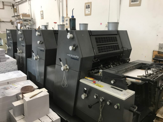 Heidelberg PM 52-4-P3 5184  4 Colour offset press 718685