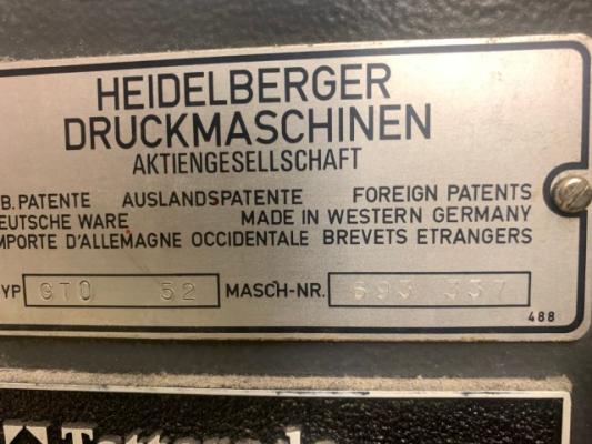 Heidelberg GTO 52-1