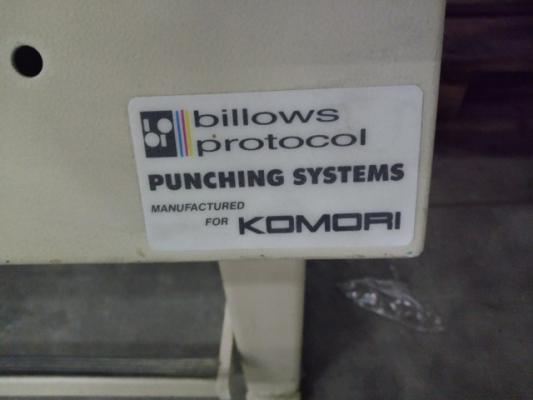 Komori Plate punch for Komori