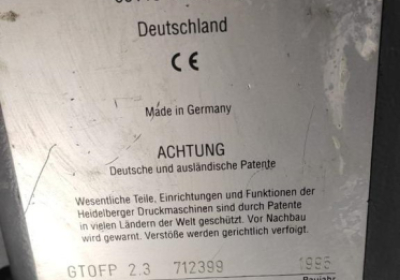 Heidelberg GTO 52 FP
