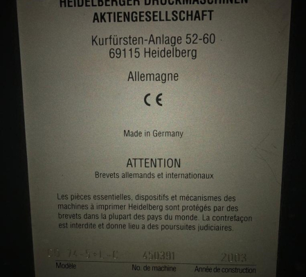 Heidelberg CD 74-5 L-C